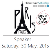 SharePoint Saturday Paris Speaker